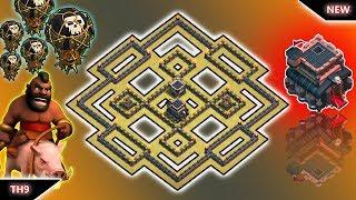 Best 2k18 Town Hall 9 War Base Anti 3 Stars! Base War Th9 terkuat 2018  Anti LAVALOON Clash of clans