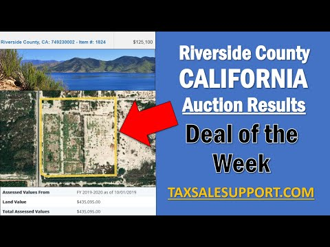 Riverside County CA Auction Results - Property Deal Of The Week - 5/8/20