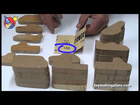 Wood Toy Plans - Creating Router Templates to Make Multiple Wood Toy Cars