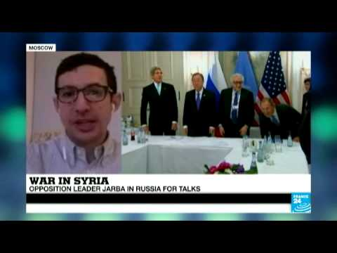 Syria: Opposition leader Jarba in Russia for talks