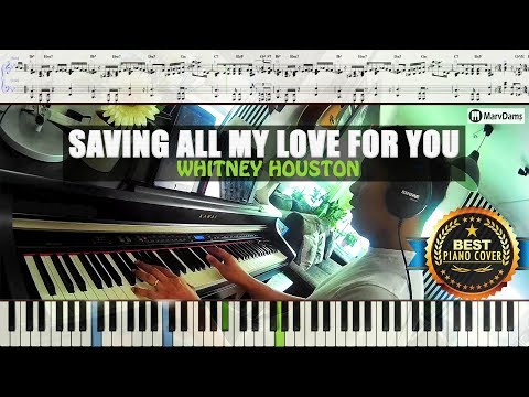 Saving All My Love For You - Whitney Houston / Piano Sheet Music Tutorial Guide