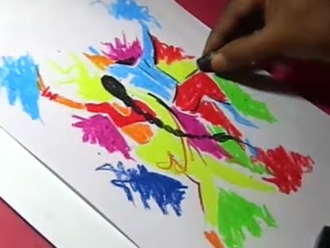 Lord Krishna And Radha Playing Holi Drawing Youtube