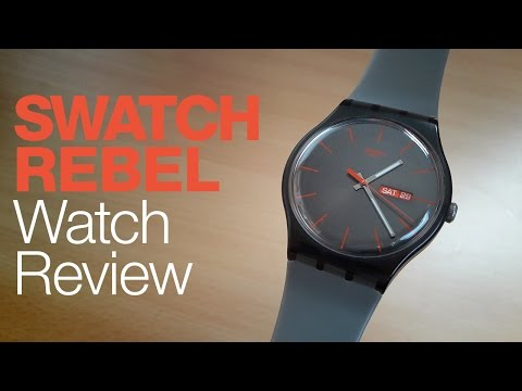 Swatch (Gray) Rebel Analog Watch Review
