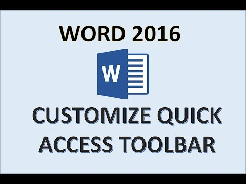 Word 2016 - Quick Access Toolbar - How To Customize Add And Delete Buttons To And From In MS Office