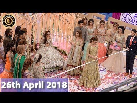 Good Morning Pakistan - Valima Day, Meethi Meethi Rasmein - Top Pakistani show