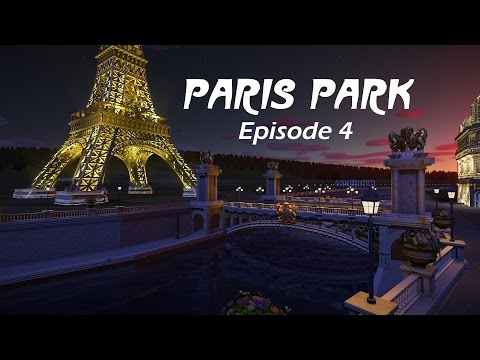Planet Coaster - Paris Park Episode 4 / Eiffel Tower and Parisian Bridges