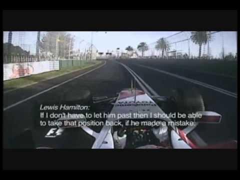 Hamilton/Trulli Melbourne 2009 Onboard