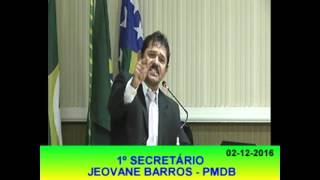 Jeovane Barros Pronunciamento 02 12 16