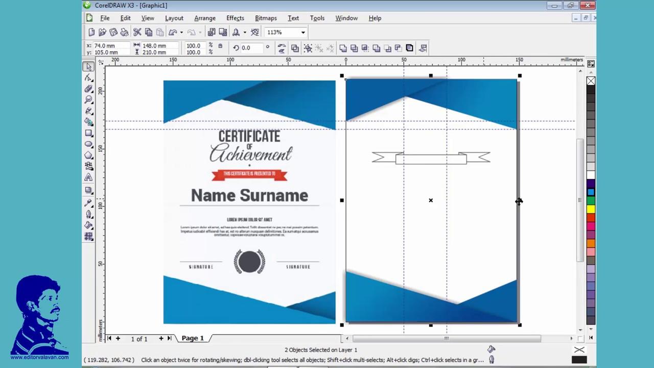 Creata a certificate for corel draw x3 tutorial in tamil youtube creata a certificate for corel draw x3 tutorial in tamil yelopaper Choice Image
