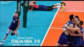 Rio 2016 - Pallavolo semifinale ITALIA-USA 3-2, cronaca di Manuela Collazzo - ITALVOLLEY ARGENTO
