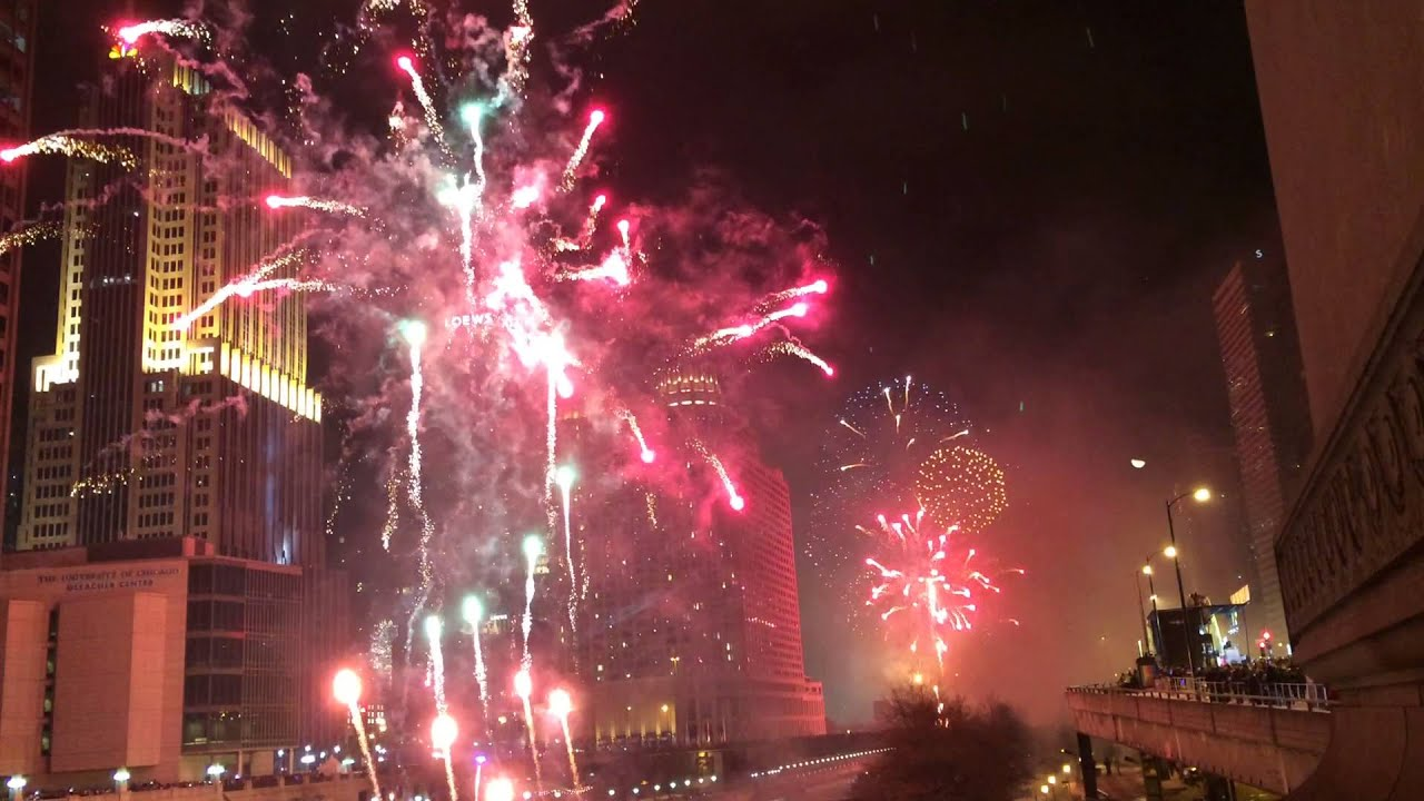 Chicago New Years Eve 2016 fireworks   YouTube