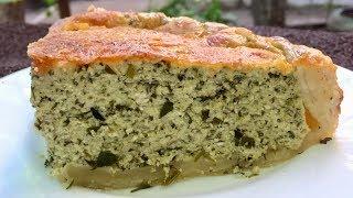 Вкуснейший пирог с щавелевой начинкой и хрустящей сырной корочкой.