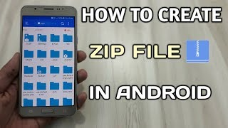How To Create Zip File In Android | How To Convert Any File Into Zip File ?