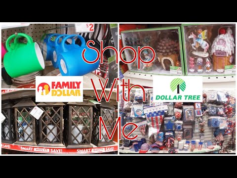 *New Dollar Tree And Family Dollar Shop With Me