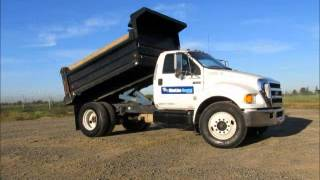 Sold! 2007 Ford F650 S/A 5 Yard Dump Truck Air Brakes Cummins 215 bidadoo.com