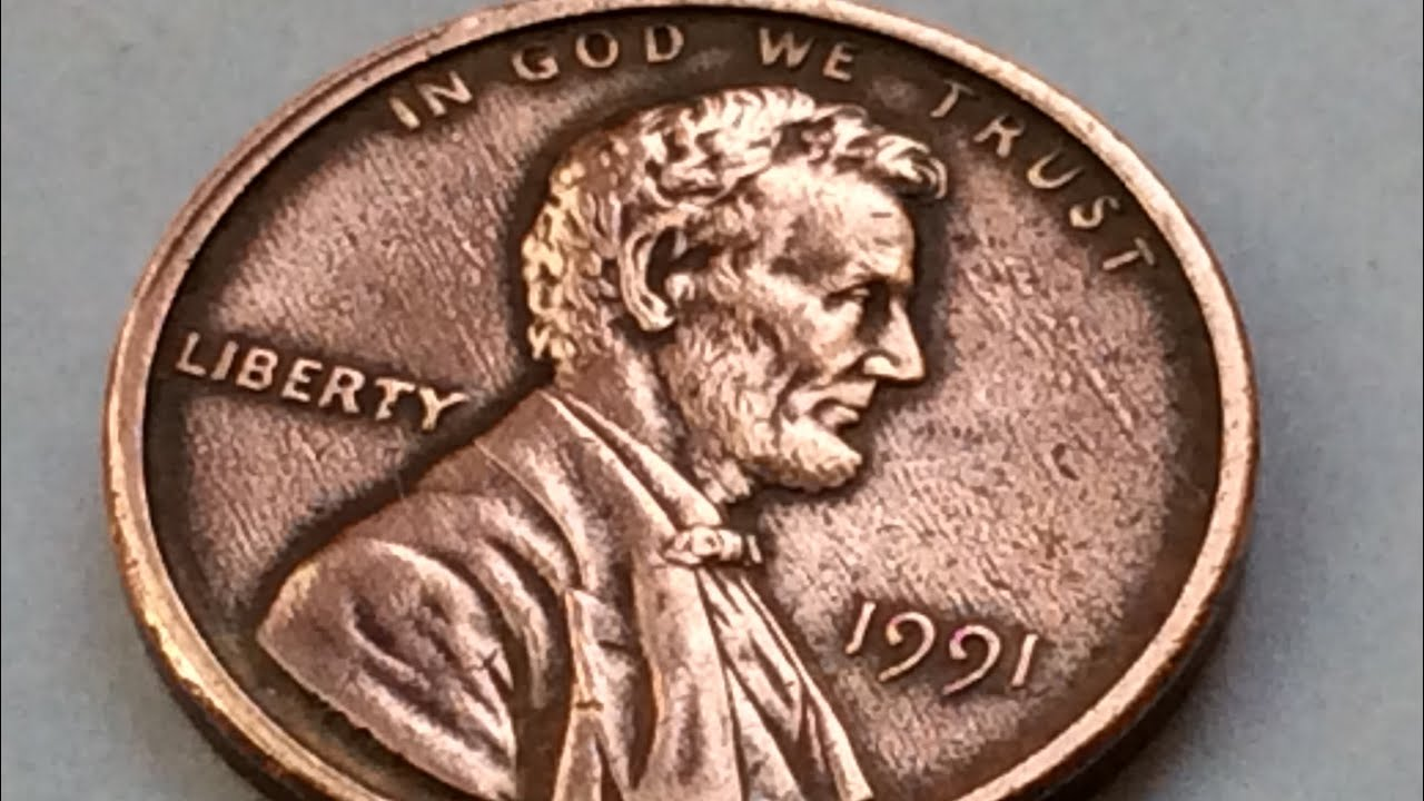 ERROR 1991 LINCOLN PENNY ONE CENT WORTH BIG MONEY NO MINT MARKS