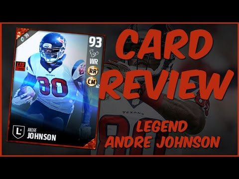 MUT 17 Card Review | Legend Andre Johnson Gameplay + Card Review