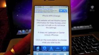 Como Configurar el operador de servicio Iphone 4, 4S, 5, 3G, 3GS... APN configuración