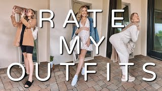 HUSBAND RATES MY OUTFITS | 18 WEEKS PREGNANT *TWINS
