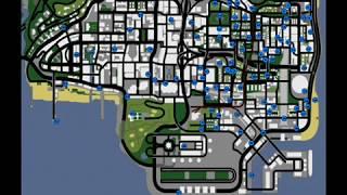 ubicaciones de los monstruos del gta mapas de graffitis etc..