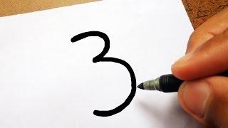 """🐇 Como Transformar o número """"3"""" em Um COELHO DA PASCOA"""
