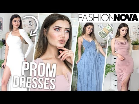 trying-on-fashion-nova-prom-dresses...