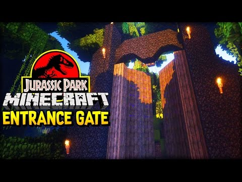 Let's Build Jurassic Park | THE ENTRANCE GATE (Minecraft Dinosaurs Part 1)