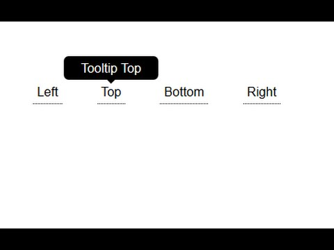 Tooltip Text Using HTML and CSS