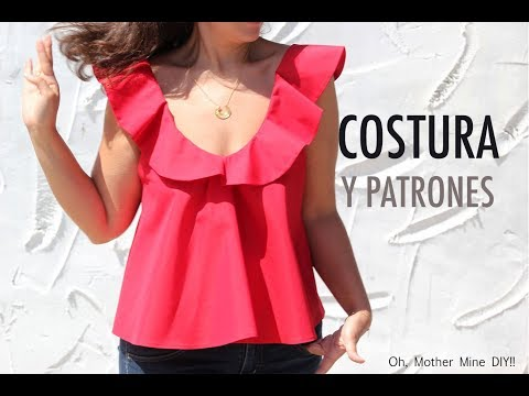 DIY Costura de blusa de mujer con volantes (patrones gratis)