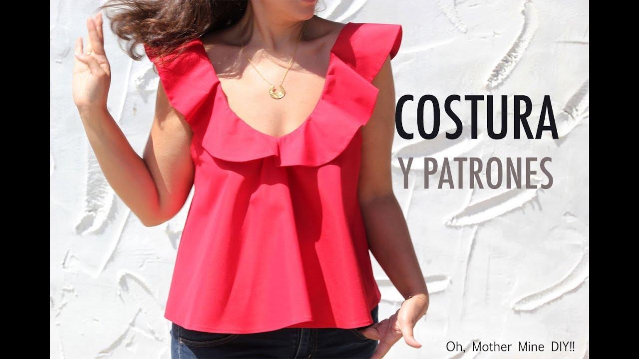 56a9629a3 DIY Costura de blusa de mujer con volantes (patrones gratis) - YouTube