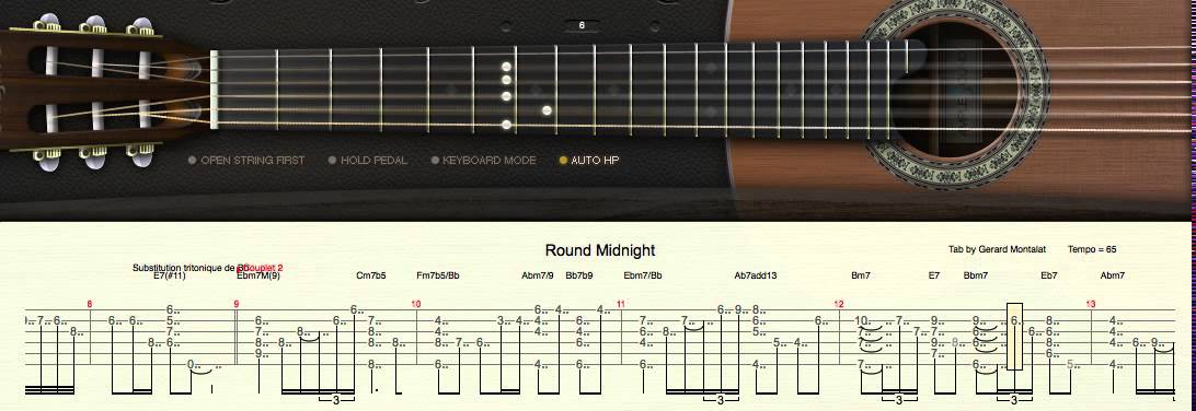 Round Midnight (chord melody) - YouTube