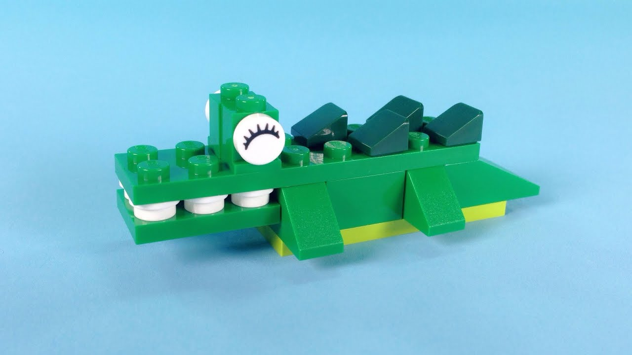 Lego crocodile building instructions lego classic 10696 for Lego classic house instructions