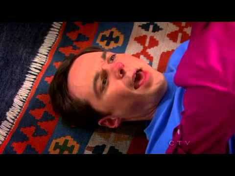 Wrestling round where Penny and Amy kissed Sheldon- the big bang theory S6x4