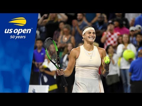 Aryna Sabalenka All Smiles in Louis Armstrong Stadium