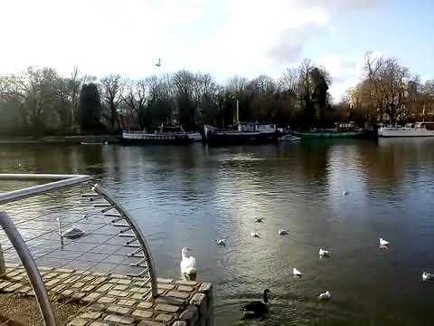 RIVER WALK.... KINGSTON UPON THAMES - LONDON , UK....