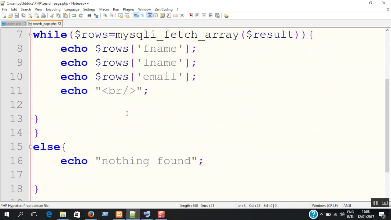 How To Create A Database Search With MySQL & PHP Script ...