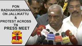 Pon.Radhakrishnan's press meet on Jallikattu & Protest across TN