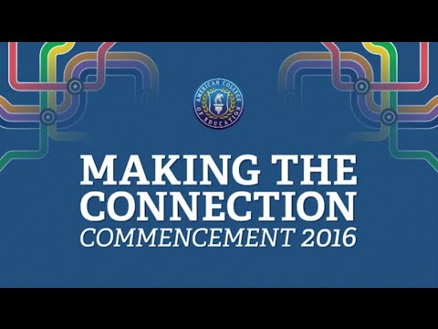 ACE Commencement 2016 - Making the Connection