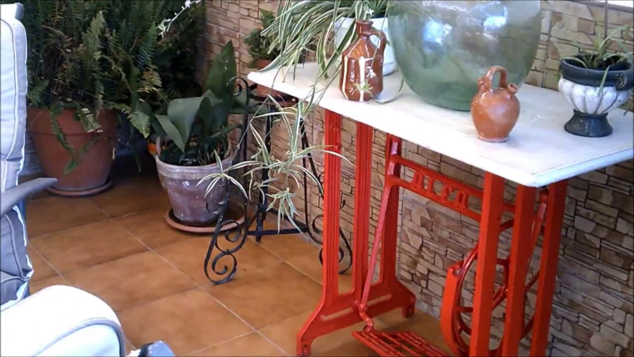 Transformaci n de una mesa de maquina de coser en una de for Como reciclar una mesa de televisor antigua
