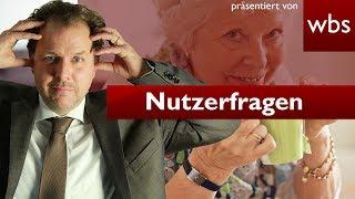 Nutzerfragen: Oma im Garten vergraben & Rente kassieren? | Rechtsanwalt Christian Solmecke