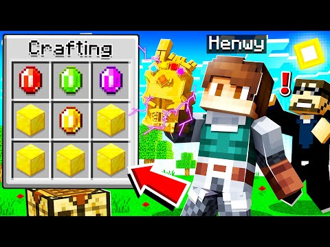 CRAFTING THE INFINITY GAUNTLET in INSANE CRAFT!
