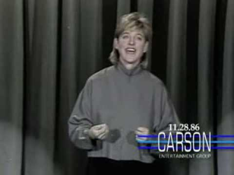 Ellen DeGeneres Big Break: 1st Stand Up Comedy TV Appearance, Strange Parents, Tonight  1986