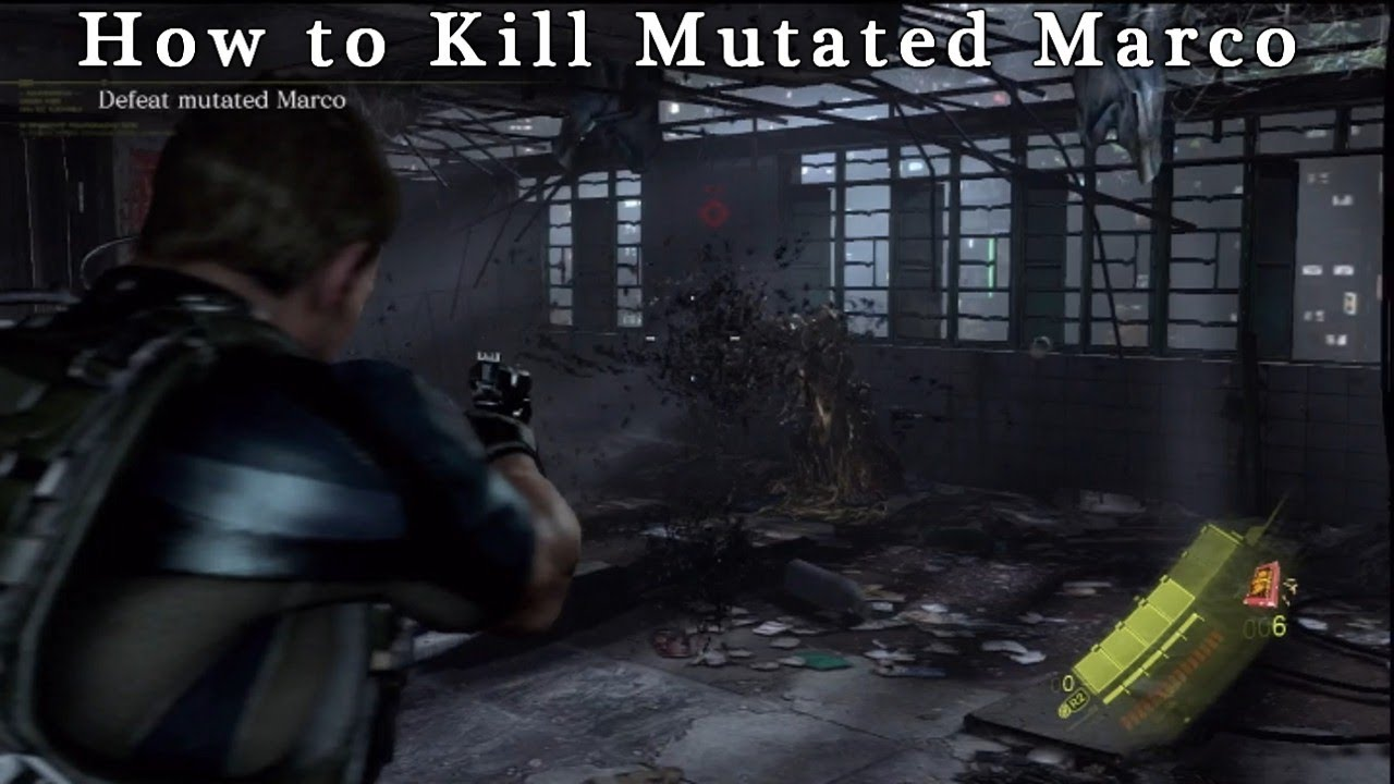 Resident Evil 6 How To Kill Mutated Marco \'\'PS3\