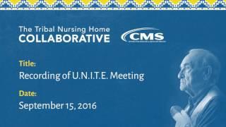Recording of U.N.I.T.E. meeting held September 15, 2016