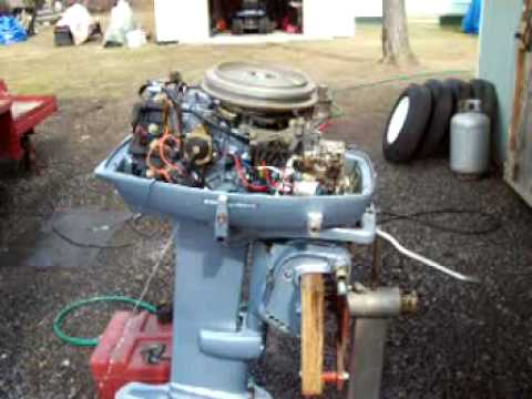 Hp Wiring Diagram 35 Hp Evinrude Outboard Motor Youtube