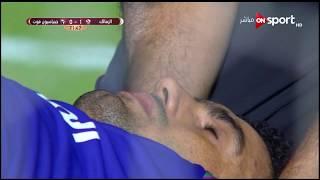 إصابة خطيرة لـ محمد عواد حارس مرمى الزمالك في الدقيقة 74 من عمر اللقاء