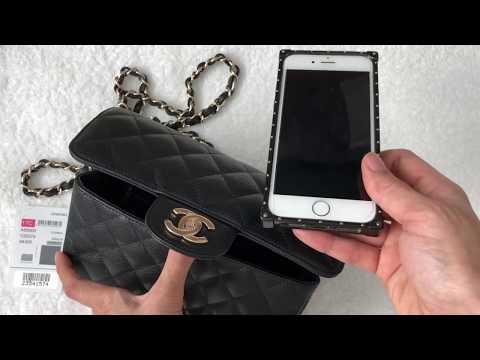 Unboxing: Chanel Rectangular Mini 17C Black Caviar with Light GHW