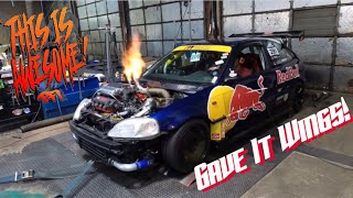 This RedBull Civic is Going to Fly!