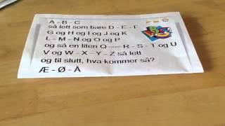 ABC song in Norwegian