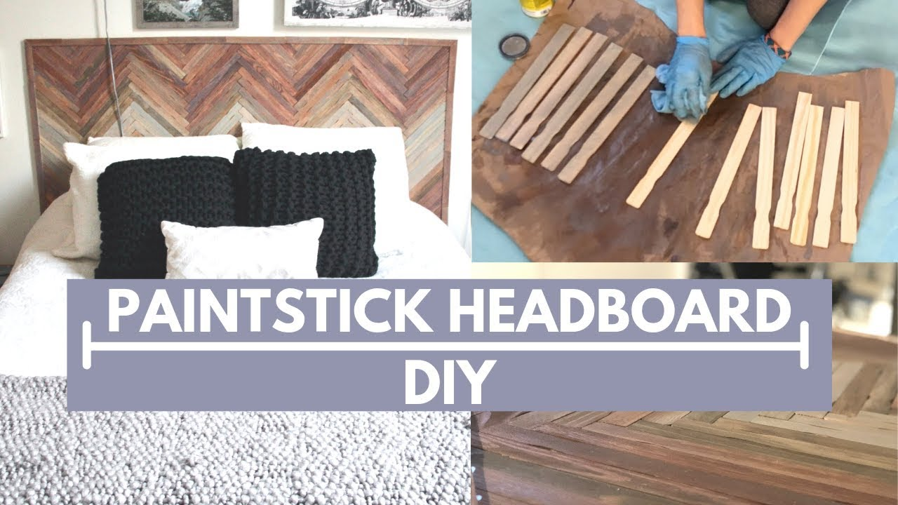Wood Headboard Using Paint Stir Sticks 5 Steps With Pictures